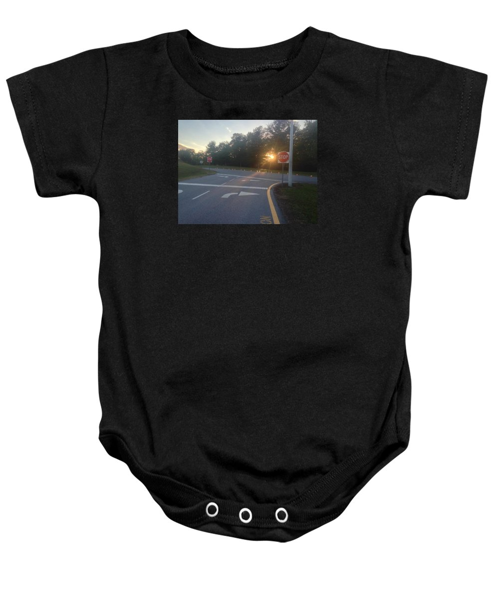 Life Baby Onesie featuring the photograph Decision by Dan Ya