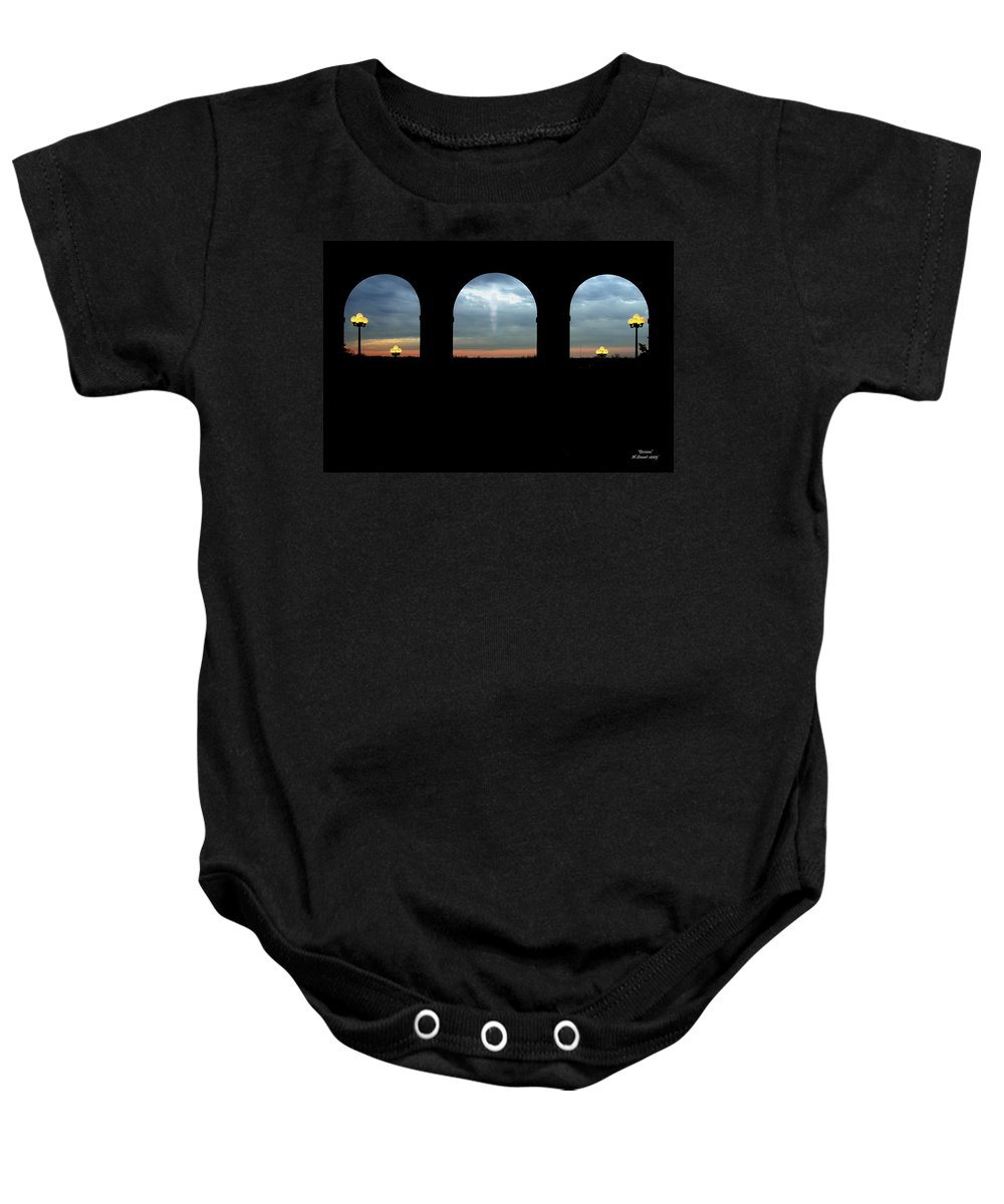 Arch Baby Onesie featuring the photograph Decisions by Albert Stewart