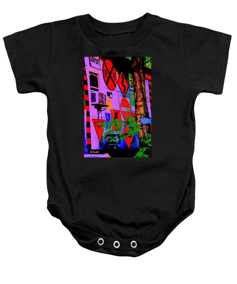 Decisions Decisions Baby Onesie featuring the photograph Decisions Decisions by Ed Smith