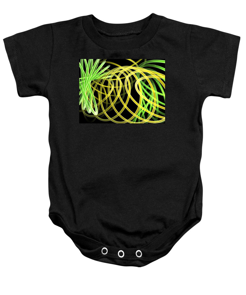 Green Baby Onesie featuring the digital art Deep Trance by Scott Piers