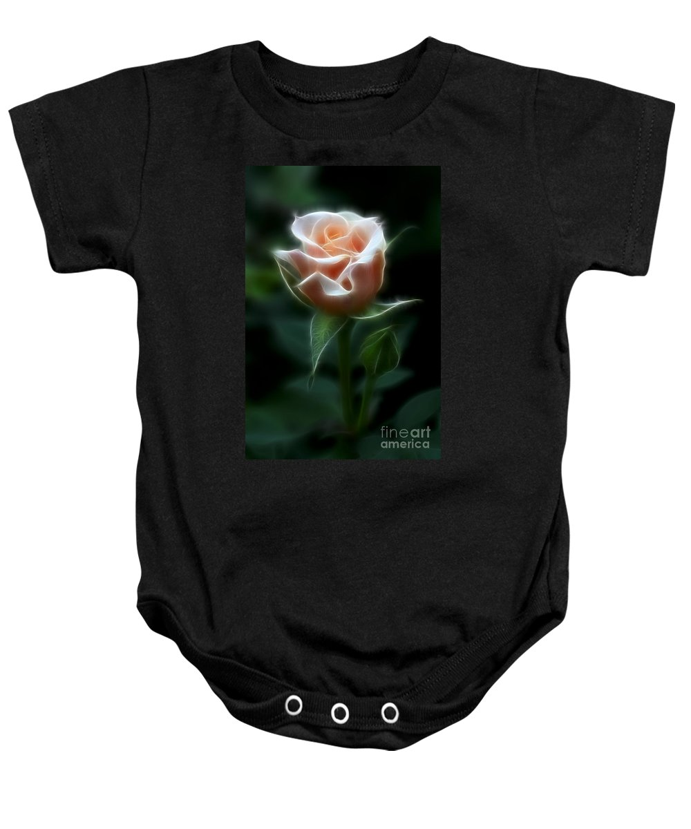 Photography Baby Onesie featuring the photograph Delight In Beauty by Deborah Benoit