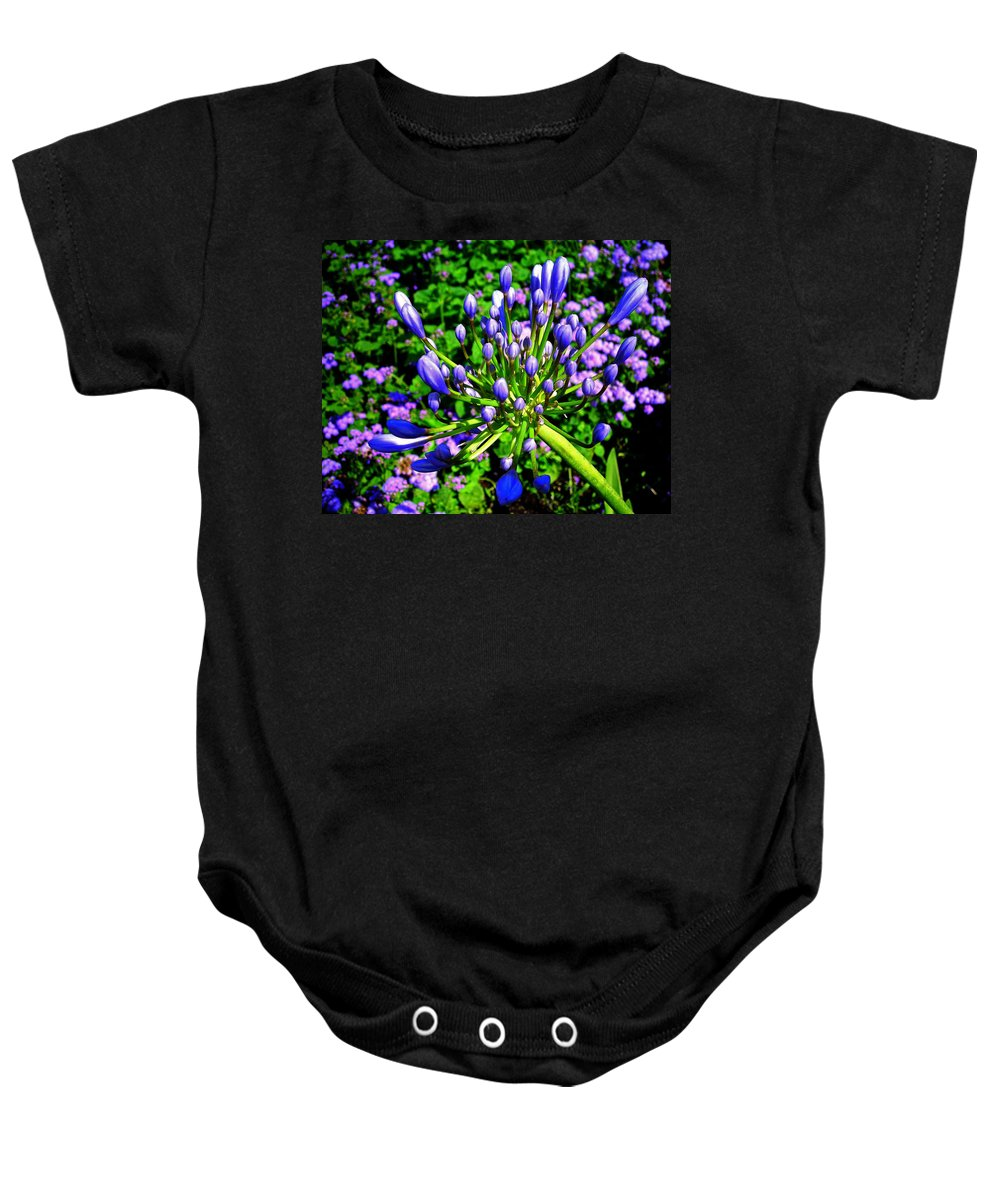 Flower Baby Onesie featuring the photograph Delightful ... by Juergen Weiss