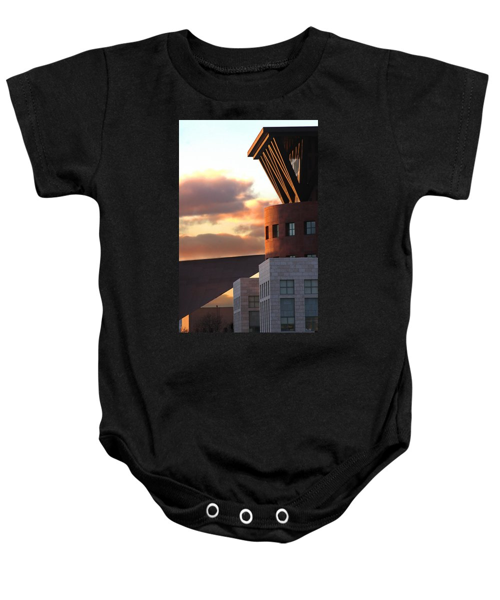 Denver Baby Onesie featuring the photograph Denver Art Museum And Library by Jeffery Ball