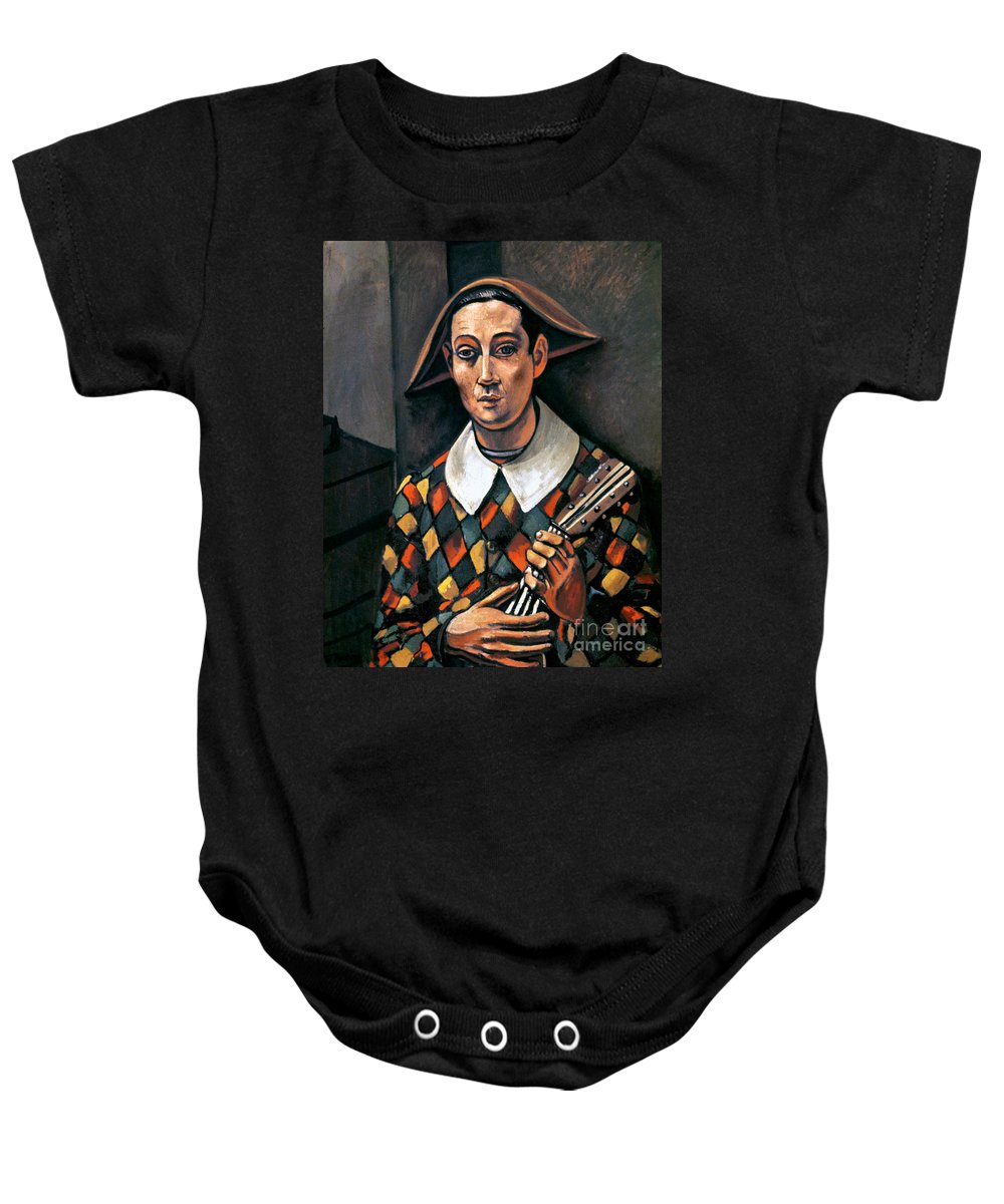 1919 Baby Onesie featuring the photograph Derain: Harlequin, 1919 by Granger