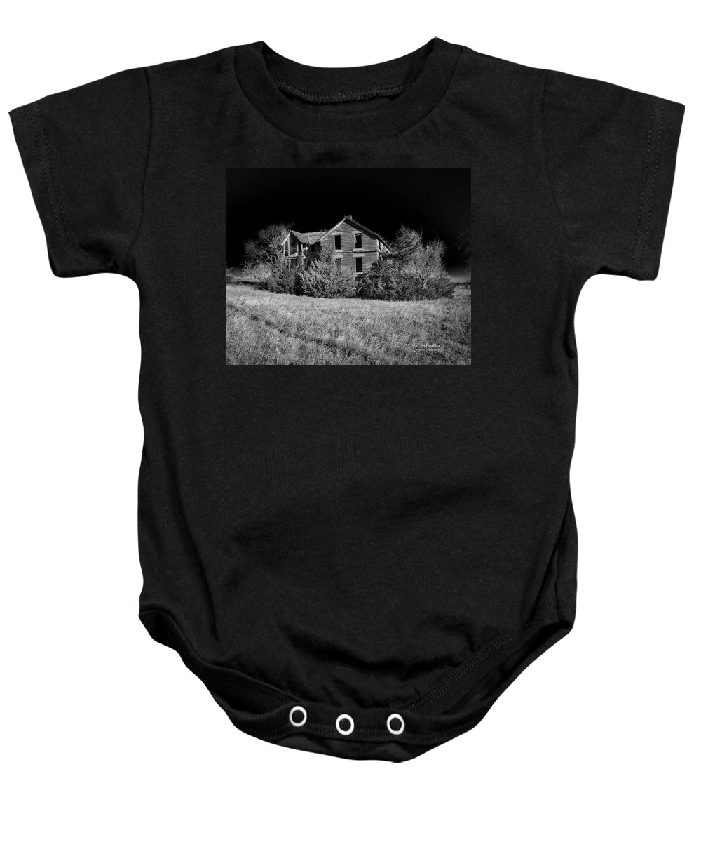 House Baby Onesie featuring the photograph Deserted House by Mike Scheufler