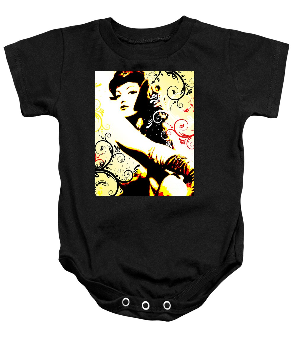 Nostalgic Seduction Baby Onesie featuring the digital art Desire by Chris Andruskiewicz