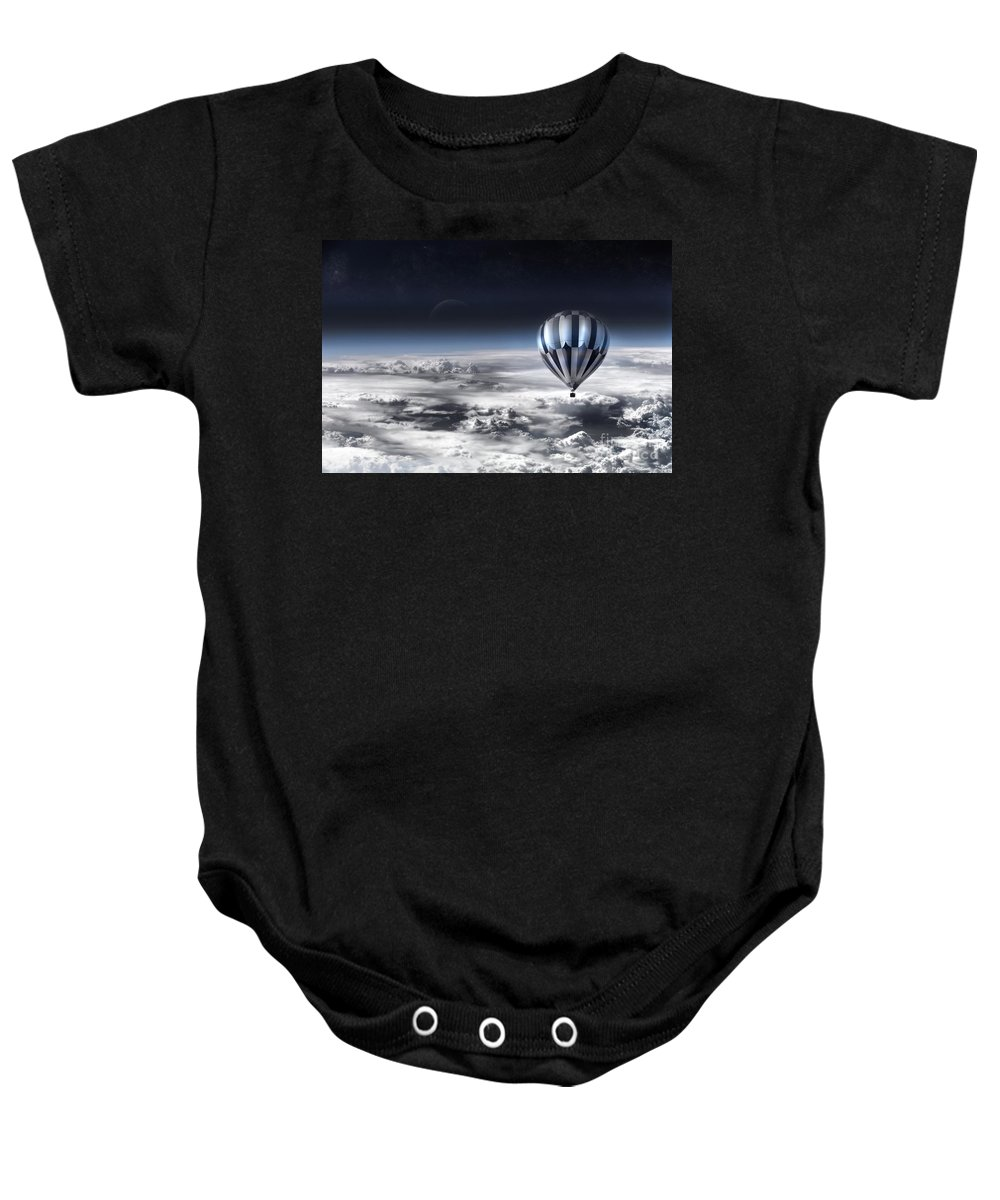 Sky Baby Onesie featuring the photograph Destiny by Jacky Gerritsen