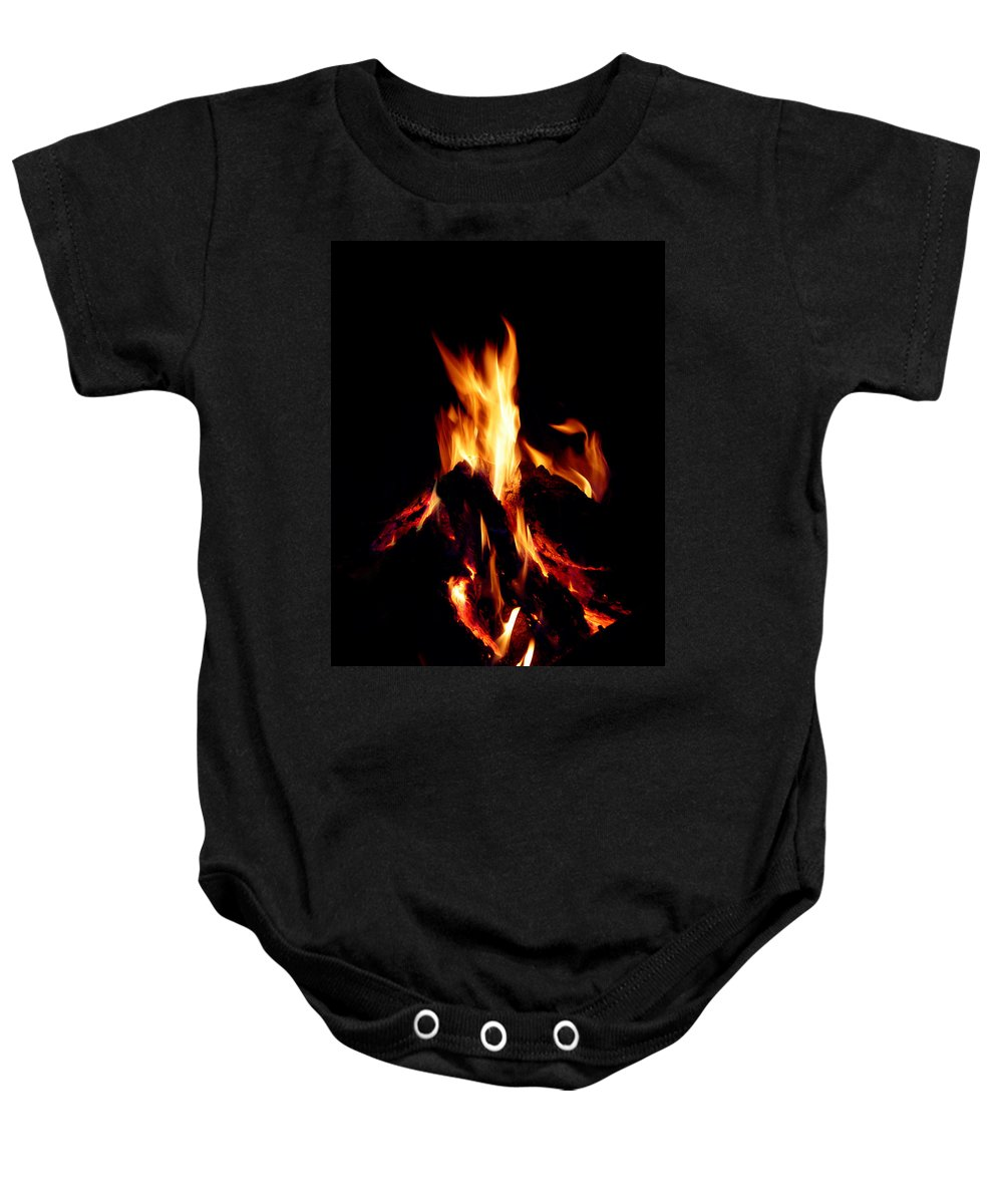 Devil Baby Onesie featuring the photograph Devil Fire by Peter Piatt