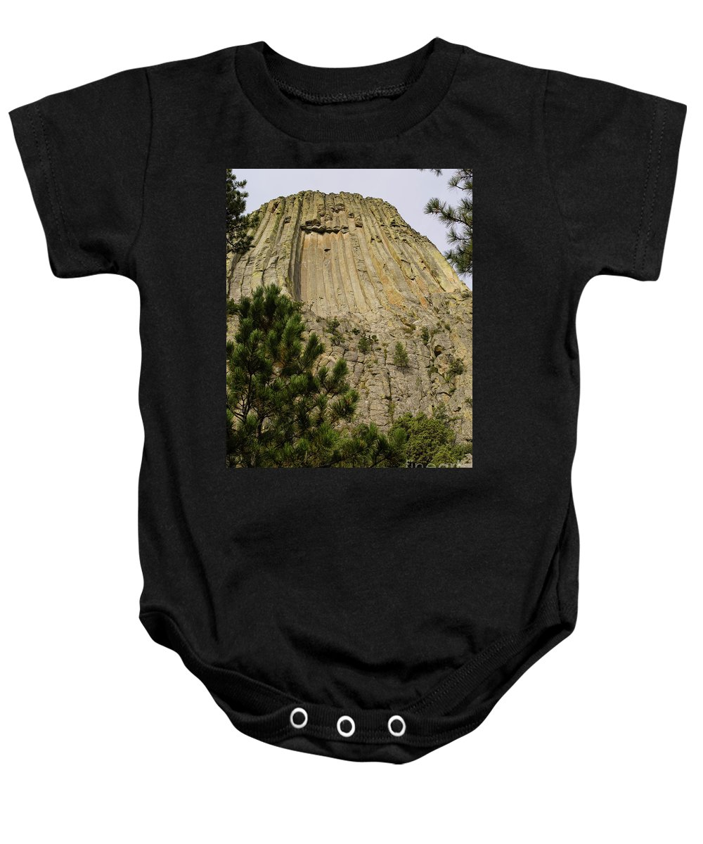 Wyoming Baby Onesie featuring the photograph Devils Tower 8 by Tracy Knauer