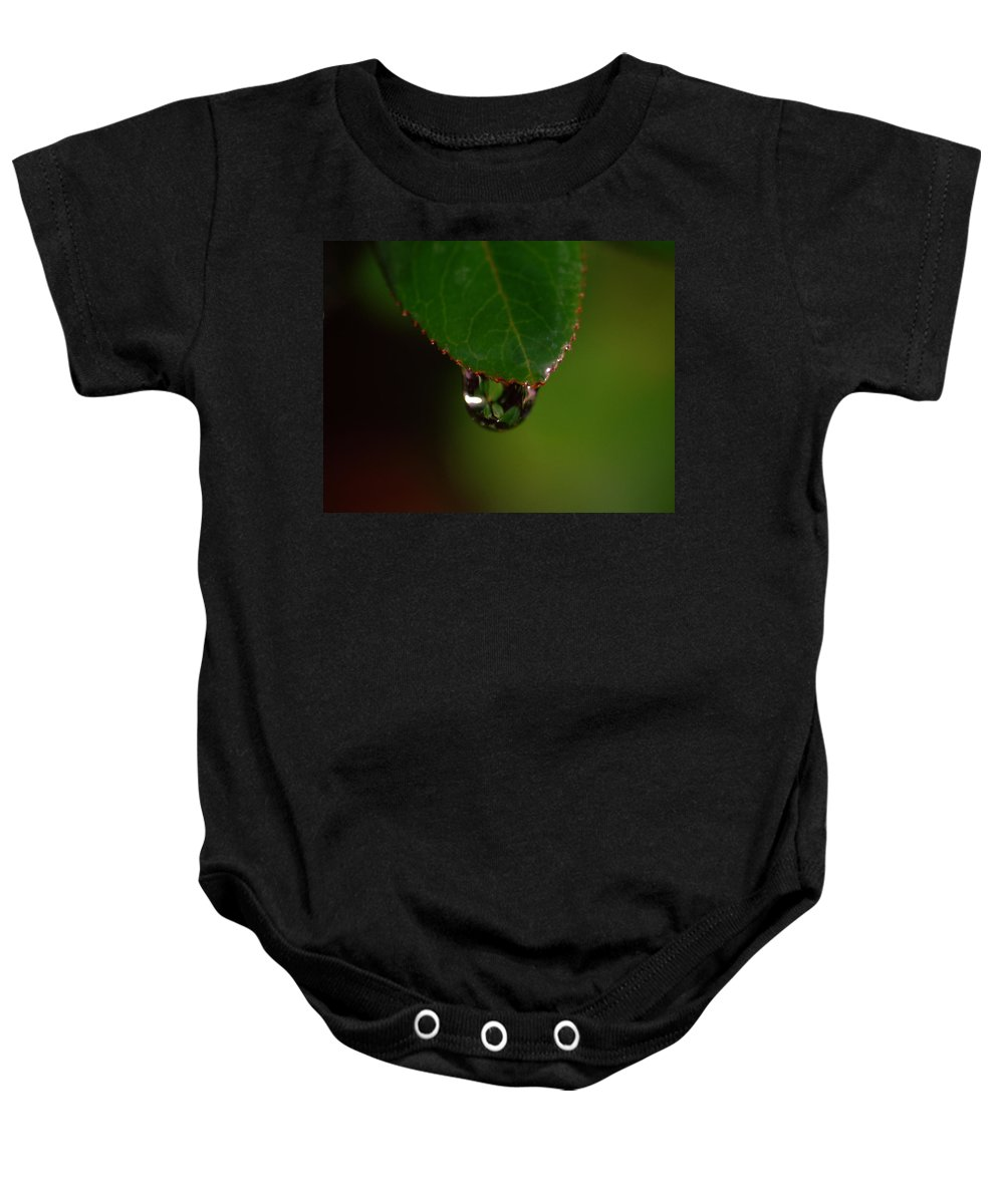 Plant Baby Onesie featuring the photograph Dew Drop In by Donna Blackhall
