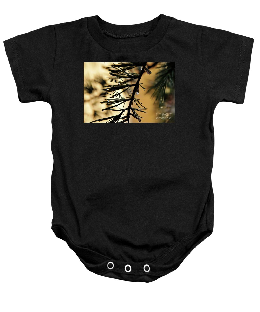 Tree Baby Onesie featuring the photograph Dewdrop by Ilaria Andreucci