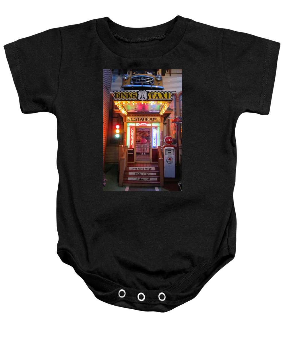 Dink�s Taxi Baby Onesie featuring the photograph Dinks Taxi 1 by Mark Sellers