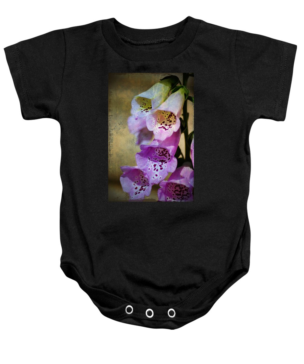 Flowers Baby Onesie featuring the photograph Dirty Belles by Bill Cannon