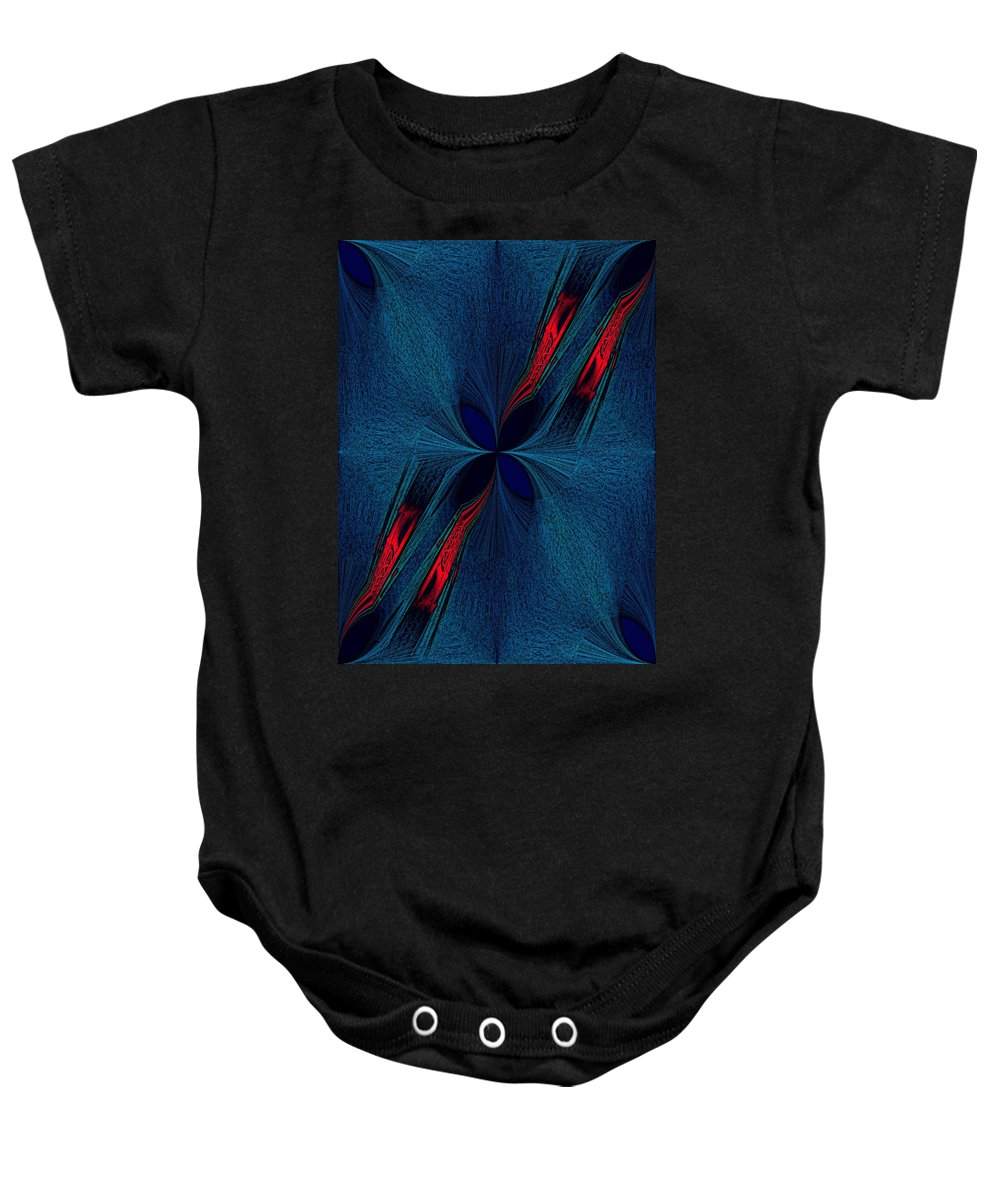 Dislocation Baby Onesie featuring the digital art Dislocation by Tim Allen