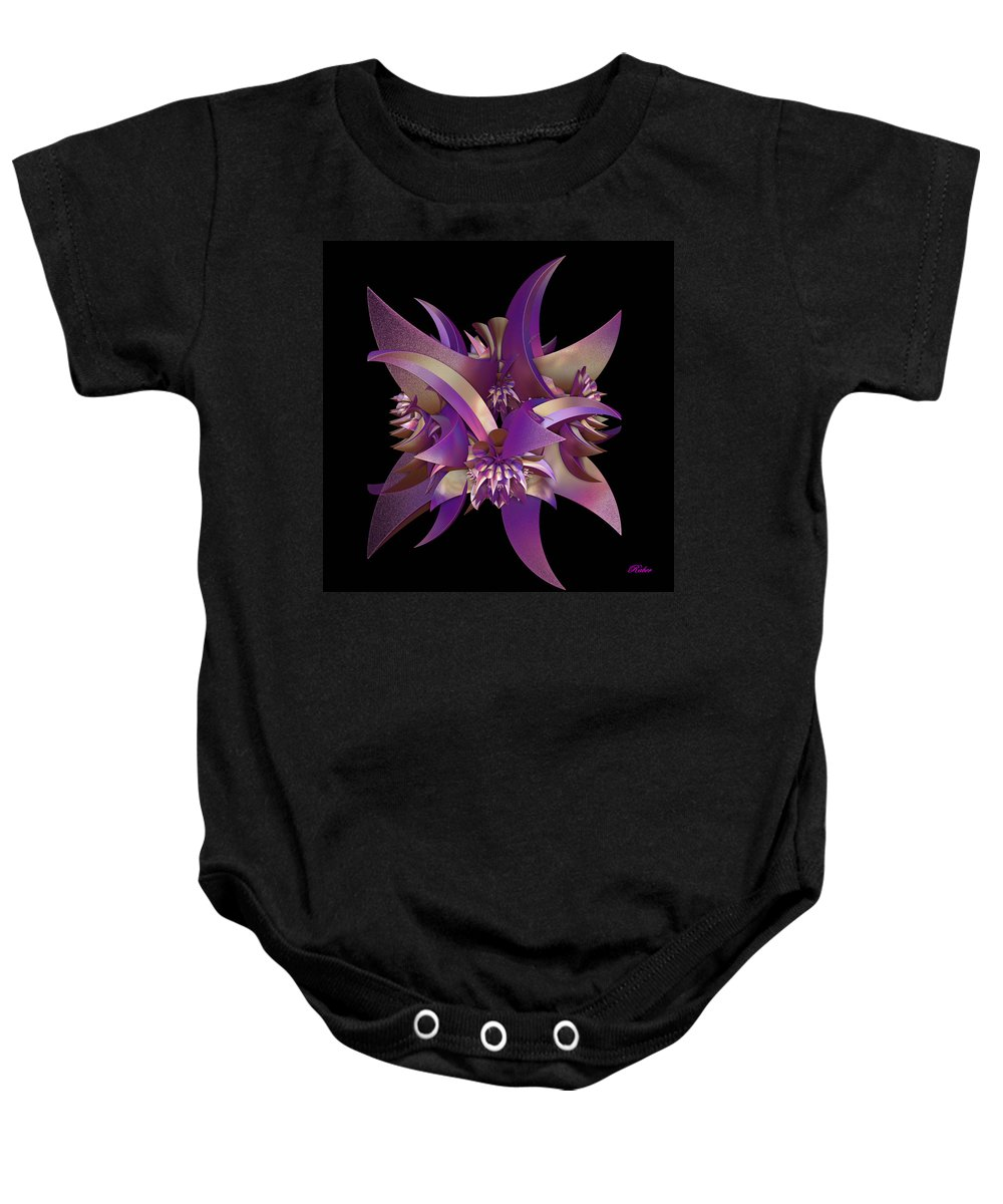 Purple Baby Onesie featuring the digital art Divided by Sara Raber