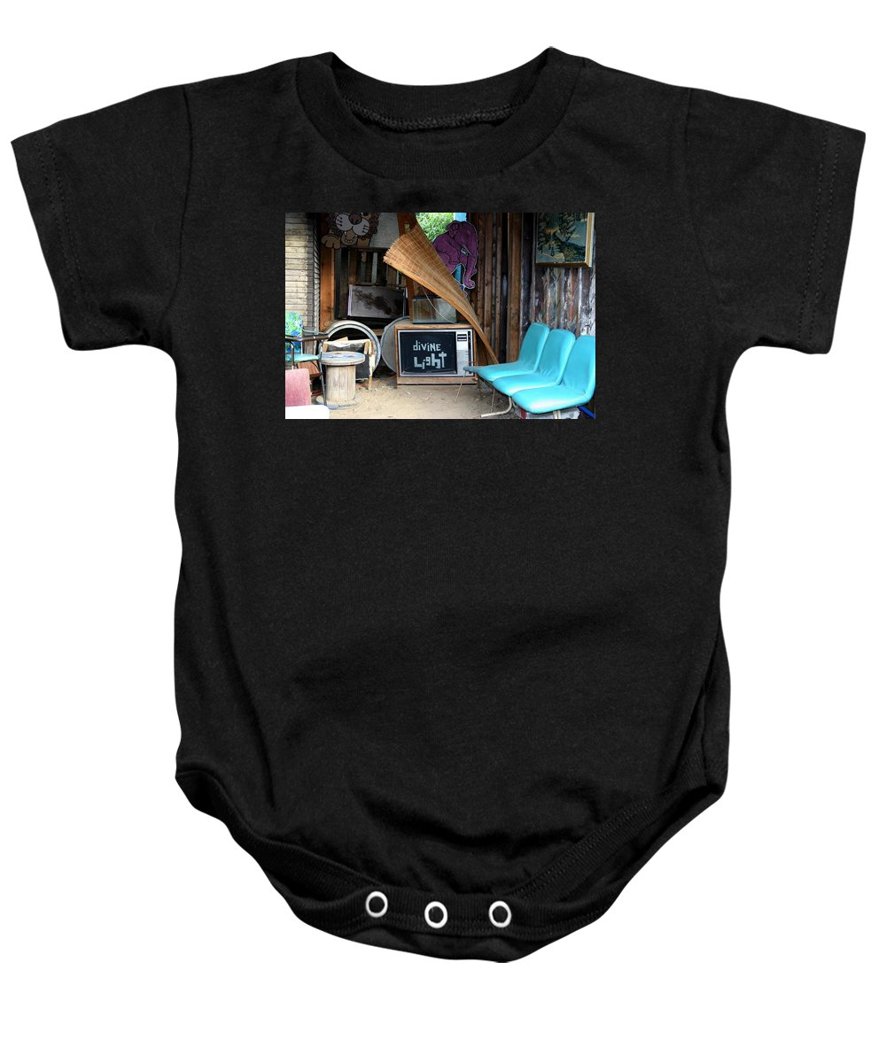 Divine Light Baby Onesie featuring the photograph Divine Light by Minaz Jantz