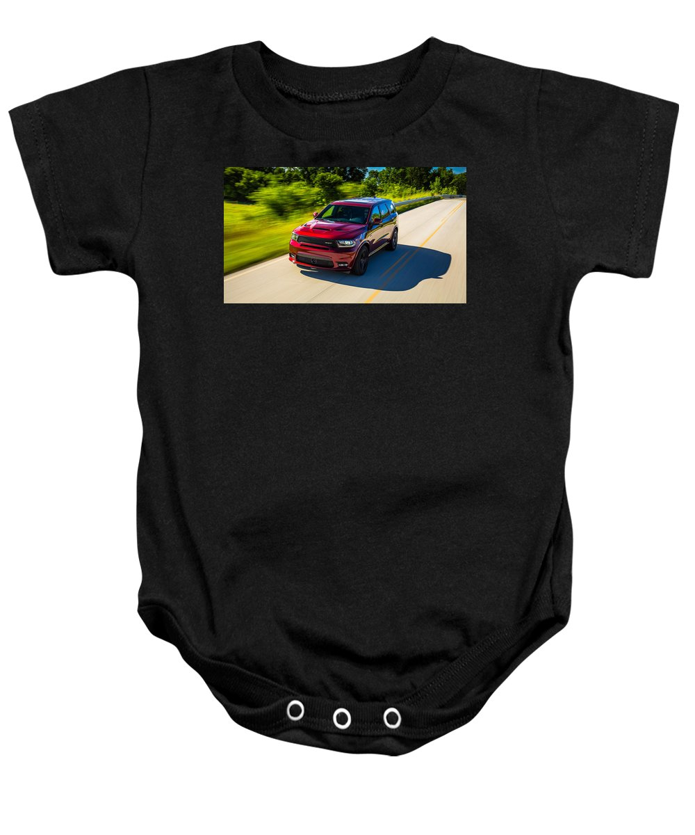 Baby Onesie featuring the digital art Dodge Durango Srt 2018 by Alice Kent