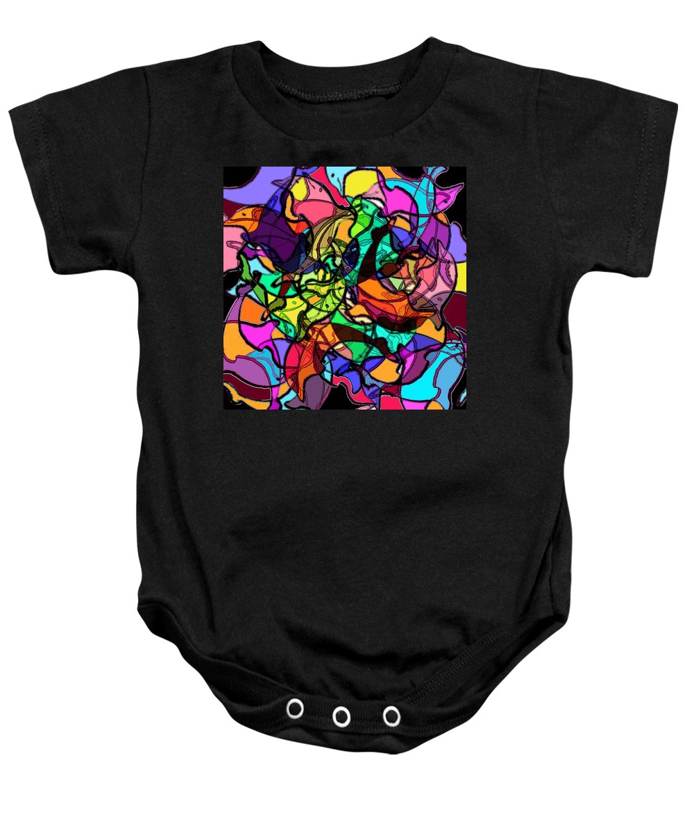 Abstract Baby Onesie featuring the digital art Dolphin Kaleidoscope by Rachel Christine Nowicki