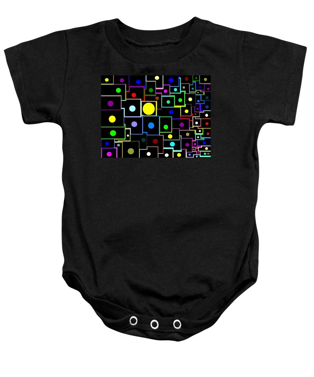 Abstract Baby Onesie featuring the digital art Domino Effect by Will Borden