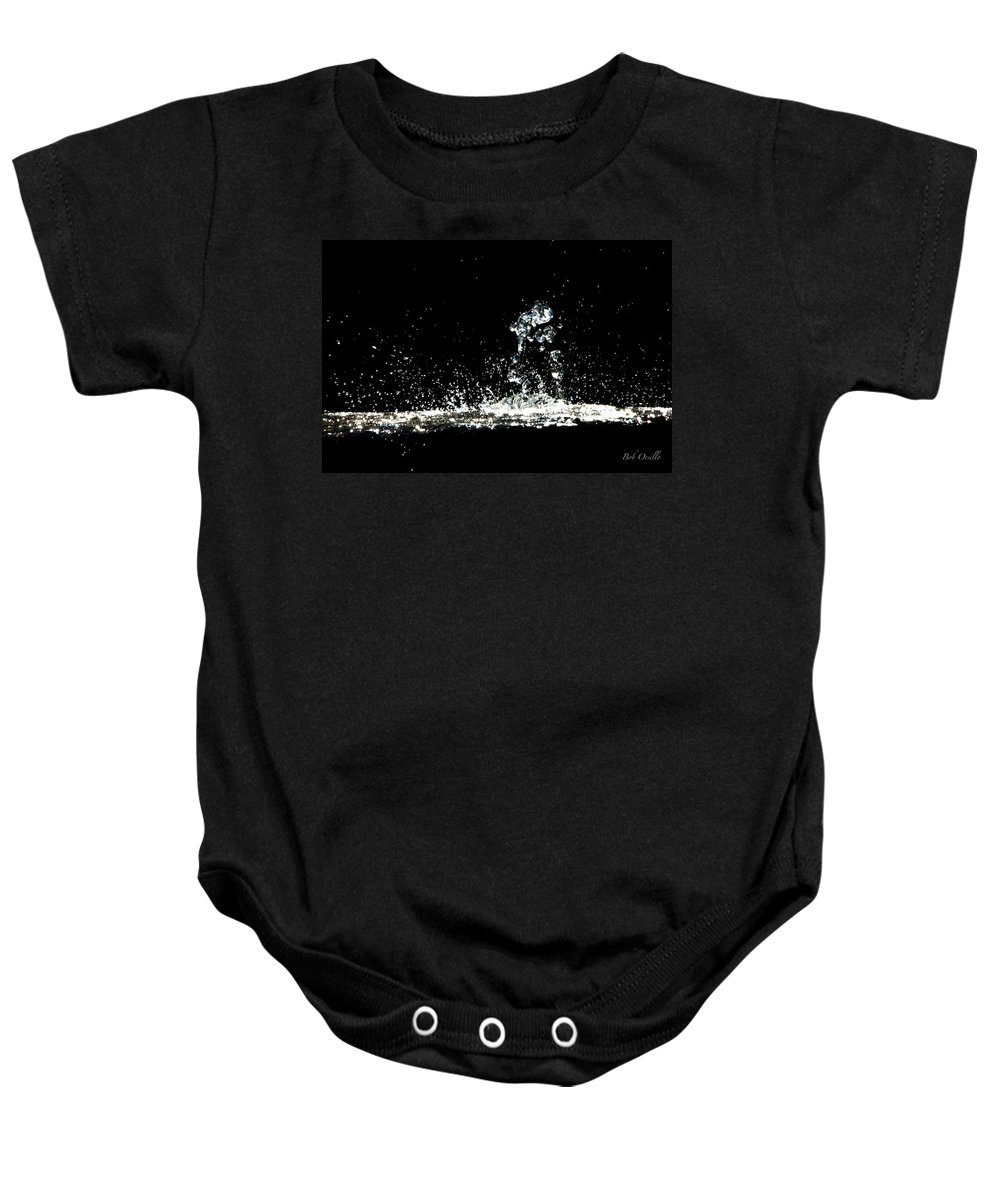 Art Baby Onesie featuring the photograph Don't Threaten Me With Love. by Bob Orsillo