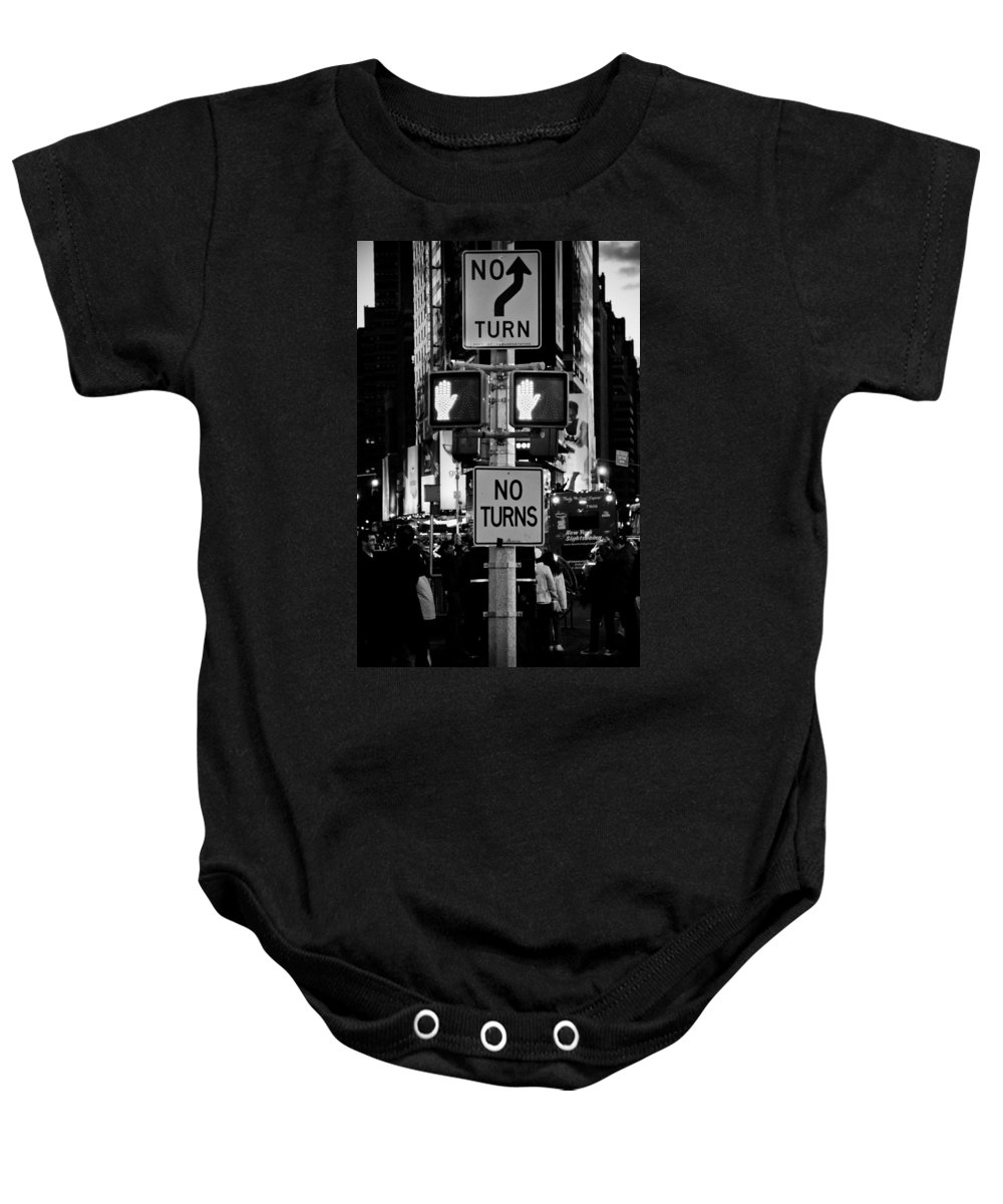 Times Square Baby Onesie featuring the photograph Don't Walk At Times Square by Scott Sawyer