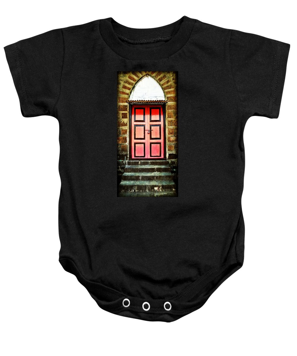 Baby Onesie featuring the photograph Door by Charuhas Images