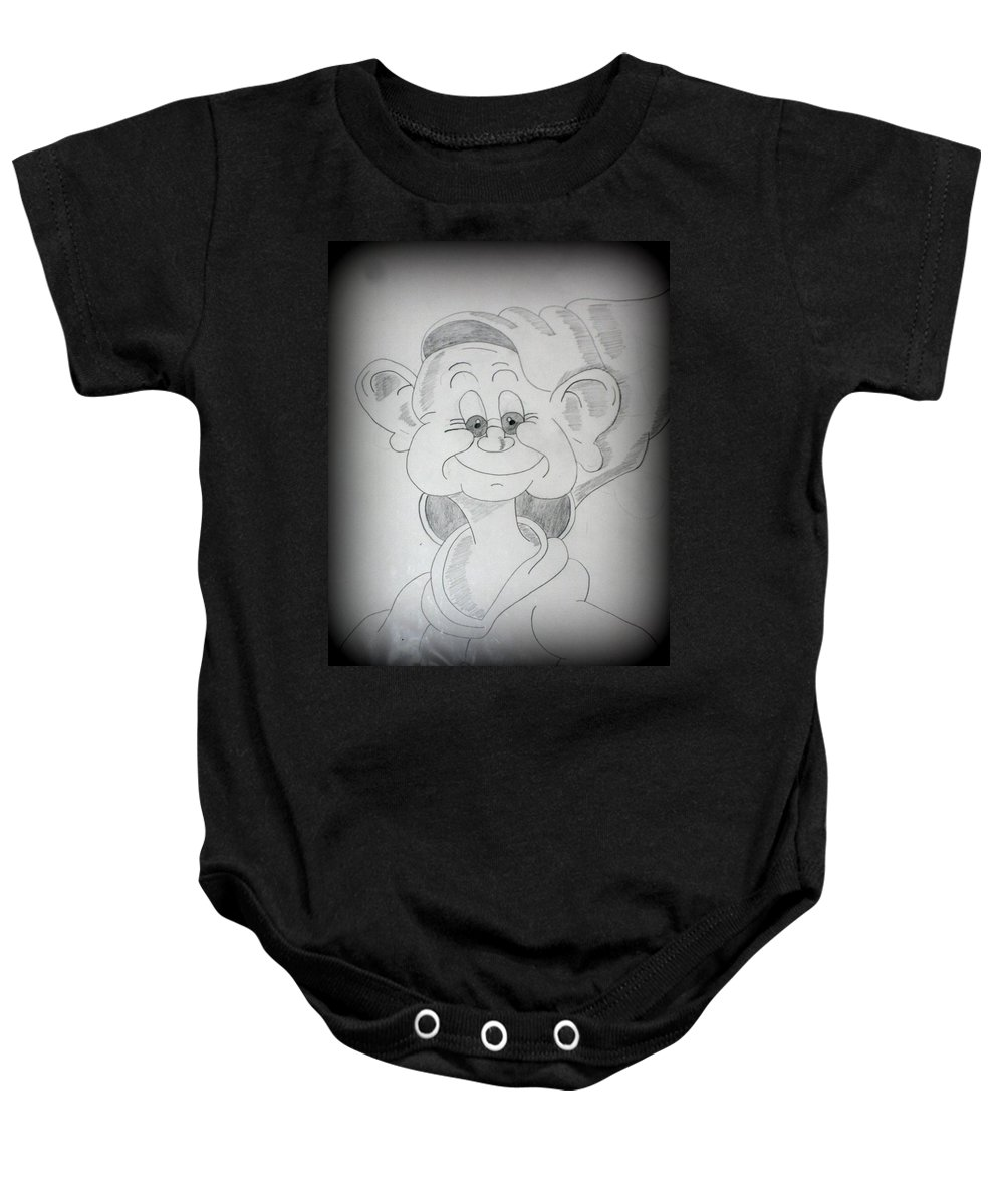 cb44316cf Dopey Baby Onesie featuring the drawing Dopey Series #2 by Sabrina Mejias