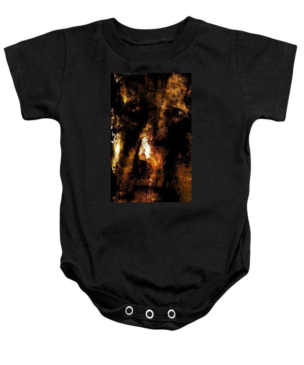 Dorian Gray Baby Onesie featuring the photograph Dorian Gray by Ken Walker