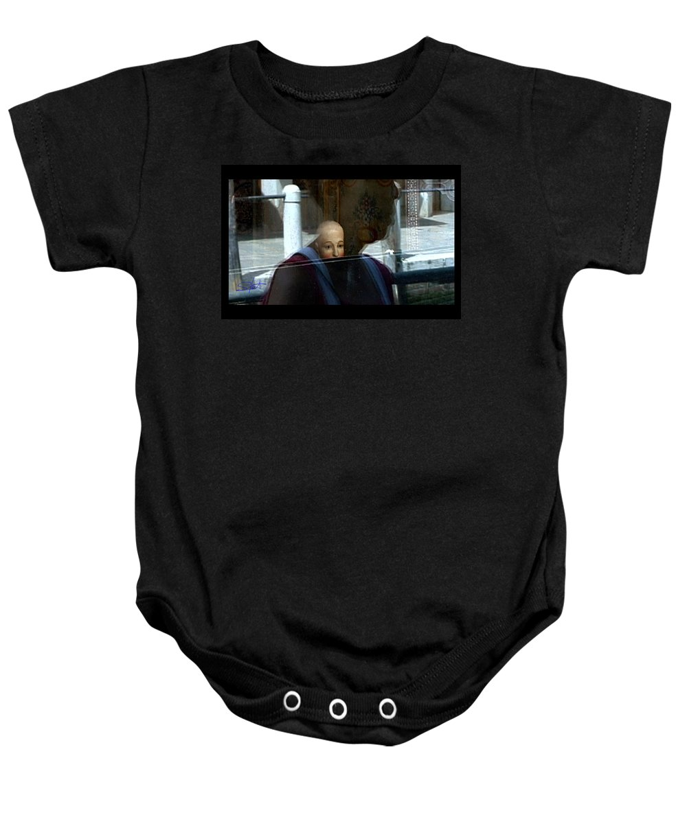Venice Baby Onesie featuring the photograph Dorsodouro by Charles Stuart