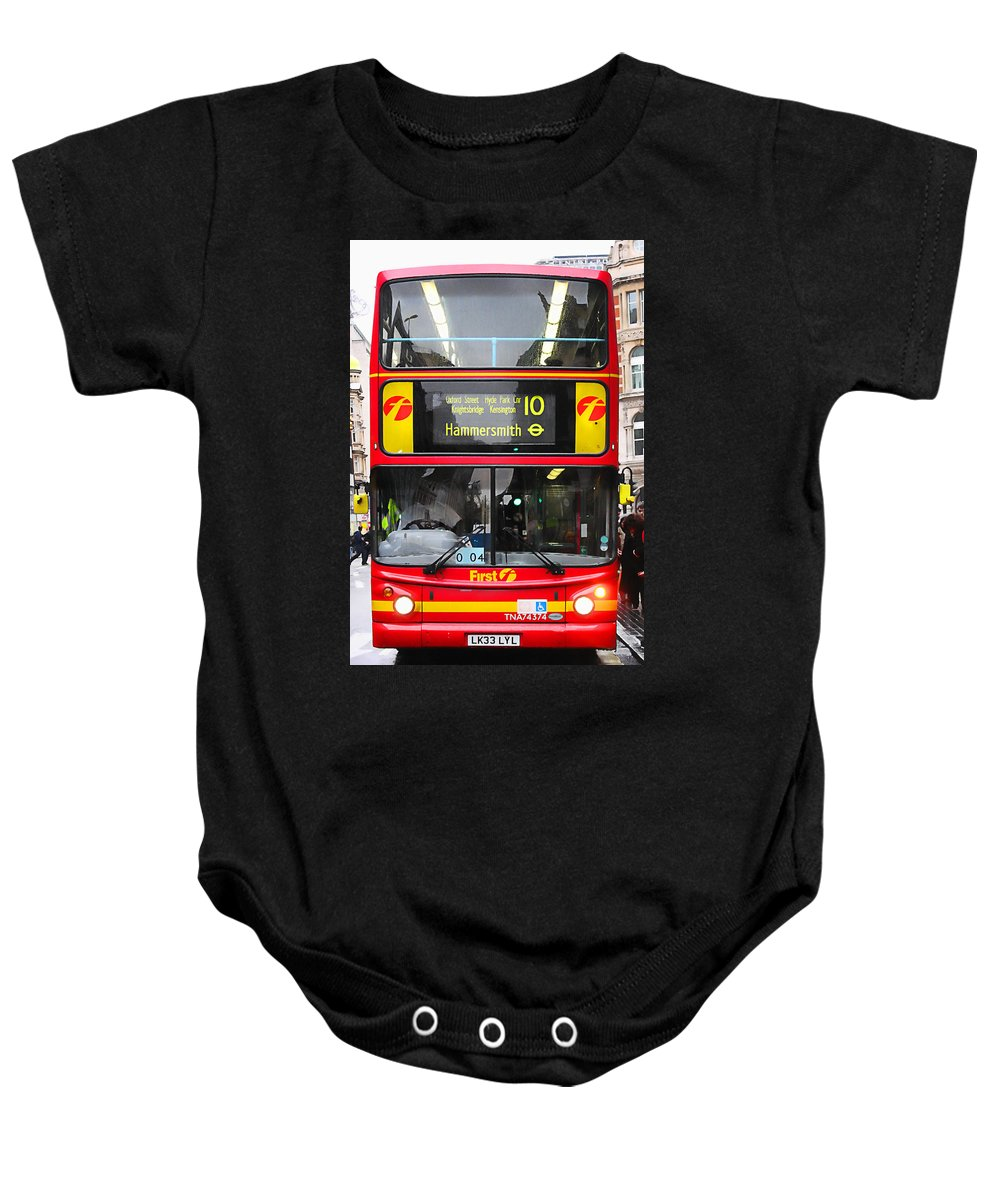 London Baby Onesie featuring the photograph Double Decker by Osvaldo Hamer