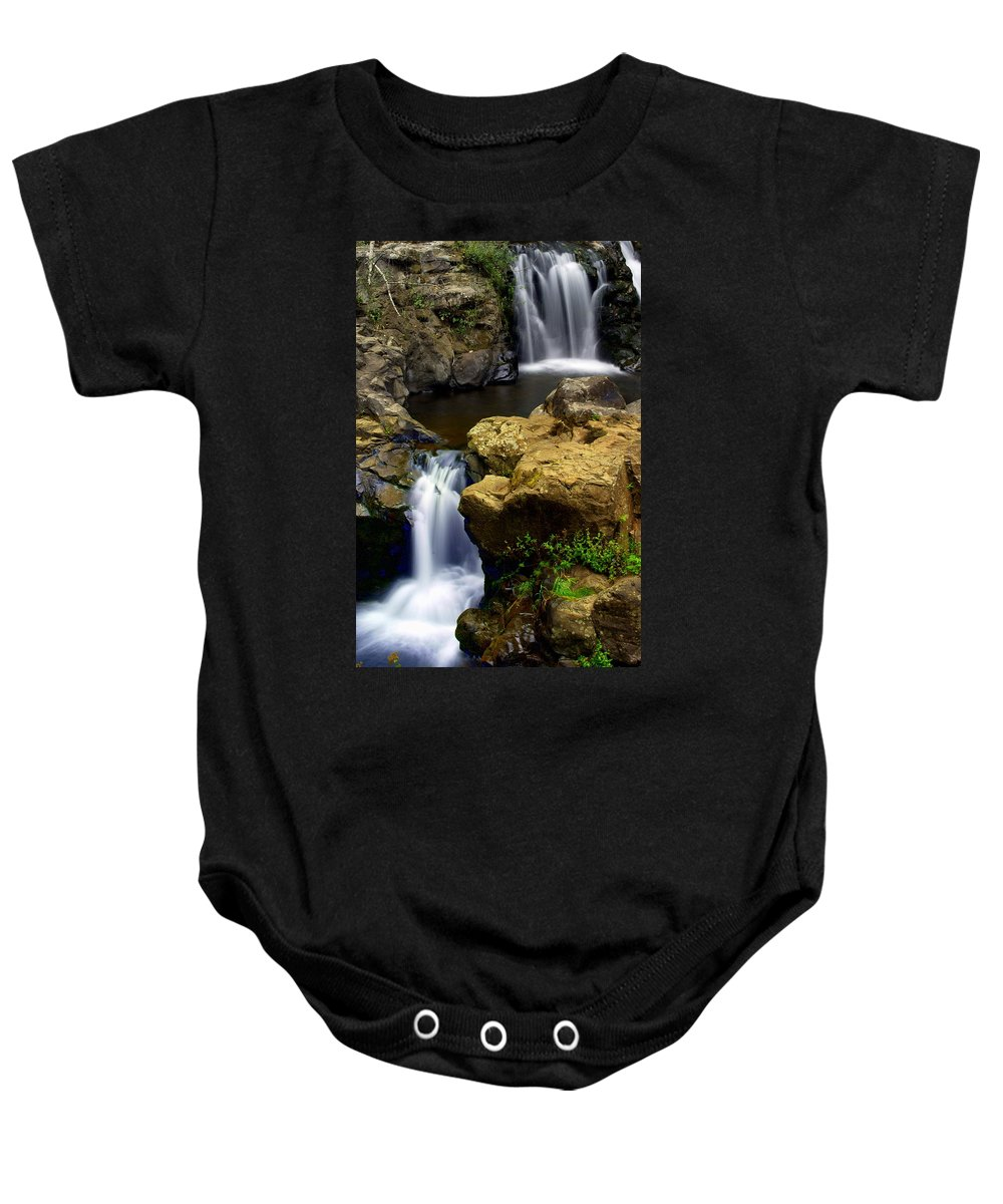 Waterfall Baby Onesie featuring the photograph Double Drop by Marty Koch