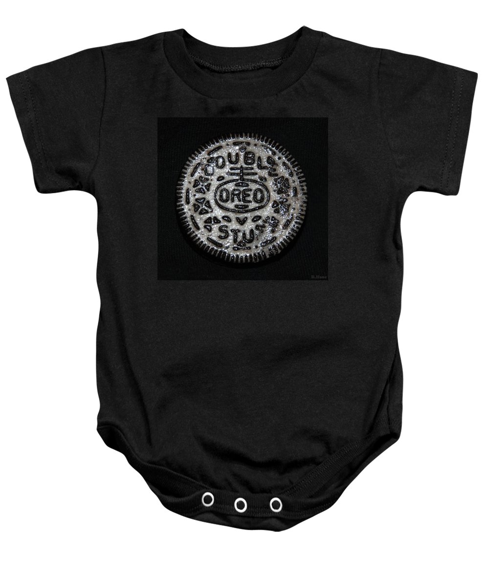 Oreo Baby Onesie featuring the photograph Double Stuff Oreo by Rob Hans
