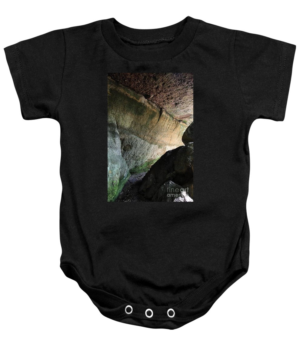 Stone Baby Onesie featuring the photograph Dove In Flight by Amanda Barcon