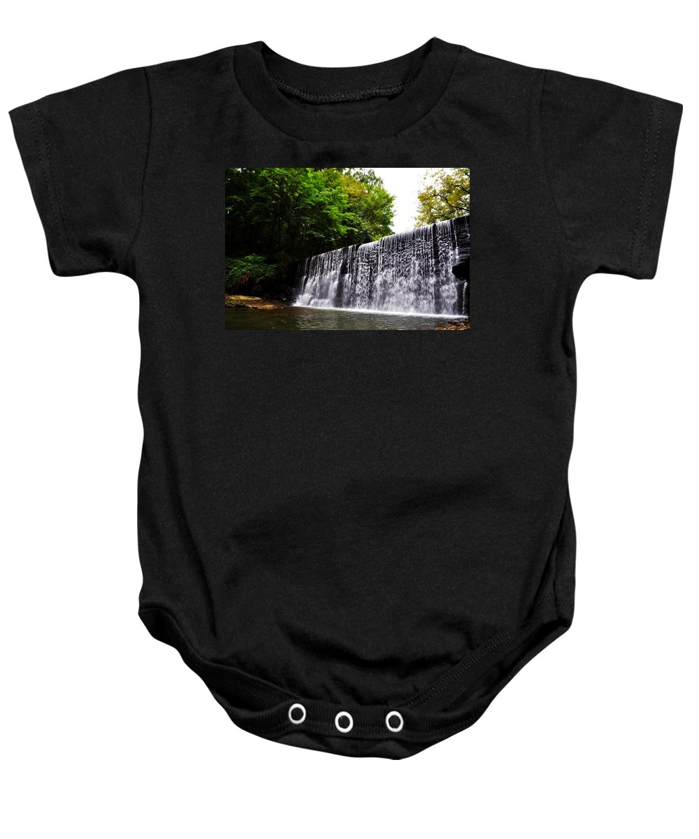 Dove Lake Waterfall Baby Onesie featuring the photograph Dove Lake Waterfall by Bill Cannon