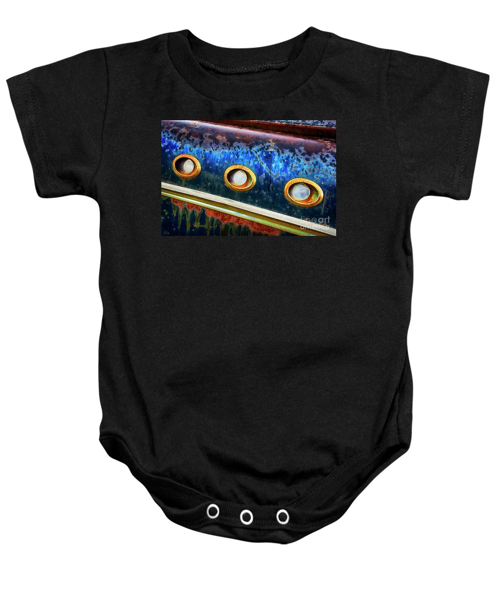 Antiques Baby Onesie featuring the photograph Down In The Dumps 8 by Bob Christopher