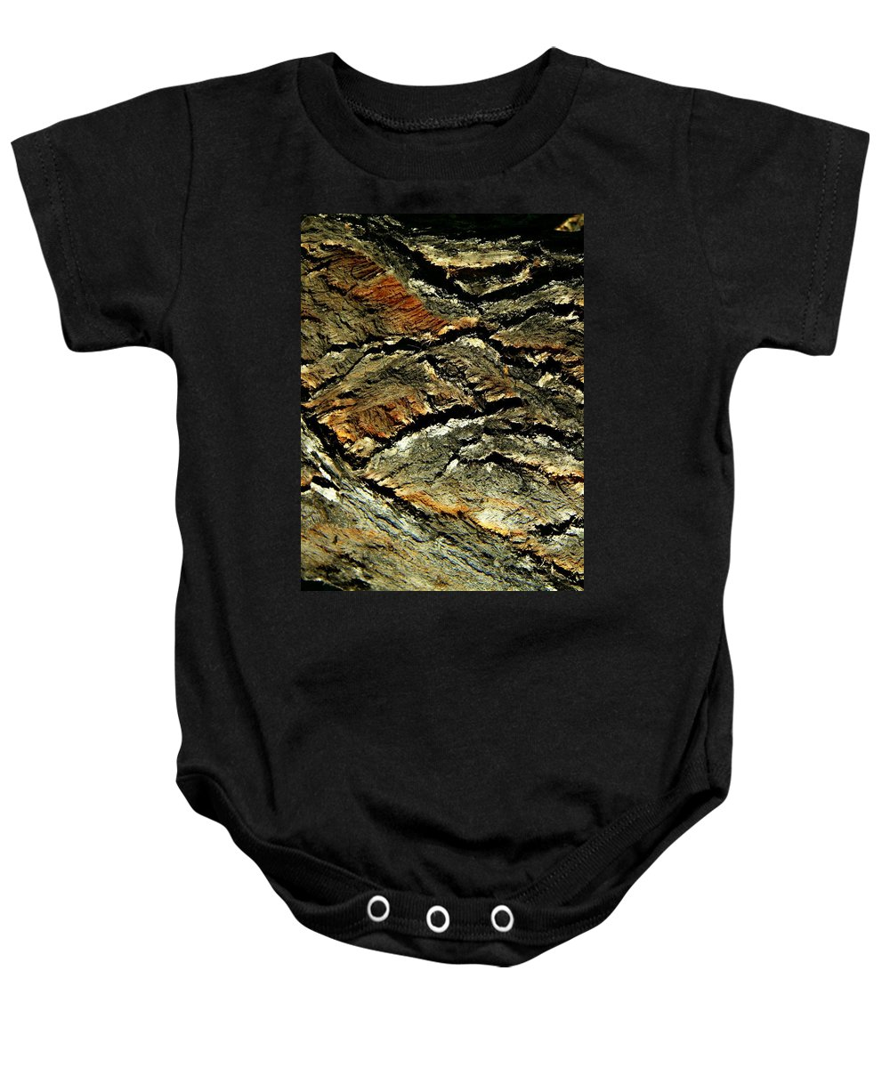 Abstract Baby Onesie featuring the photograph Down In The Valley by Lenore Senior
