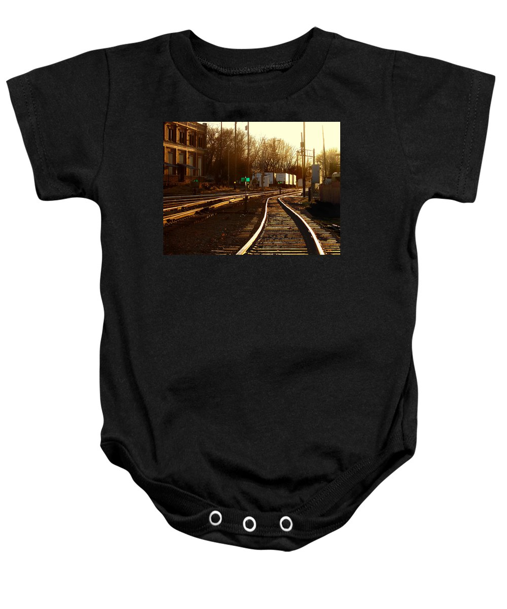 Landscape Baby Onesie featuring the photograph Down The Right Track 2 by Steve Karol