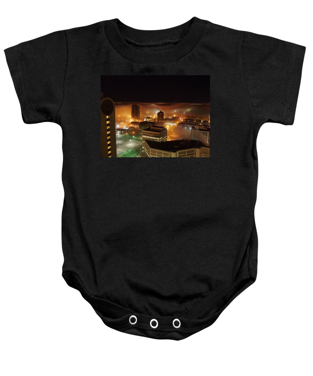 Photograph Calgary Baby Onesie featuring the photograph Downdown Calgary by Seon-Jeong Kim