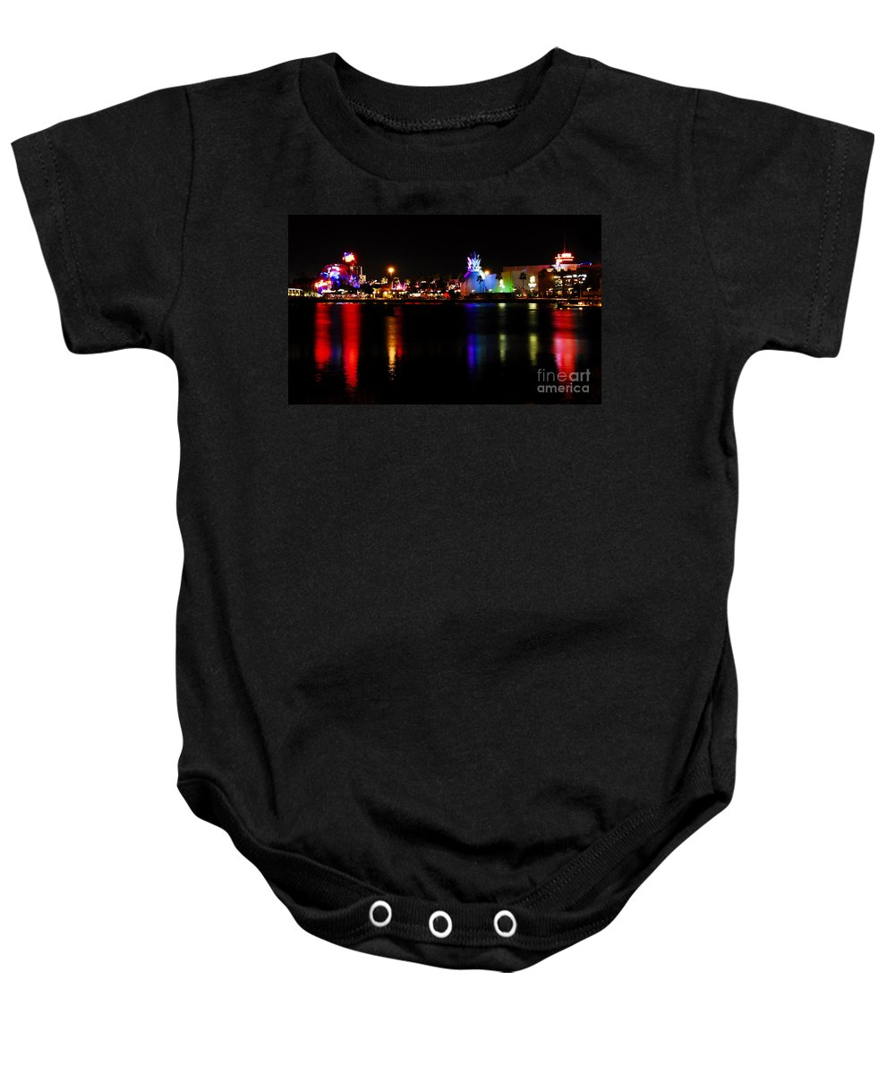 Downtown Disney Baby Onesie featuring the photograph Downtown Disney by David Lee Thompson
