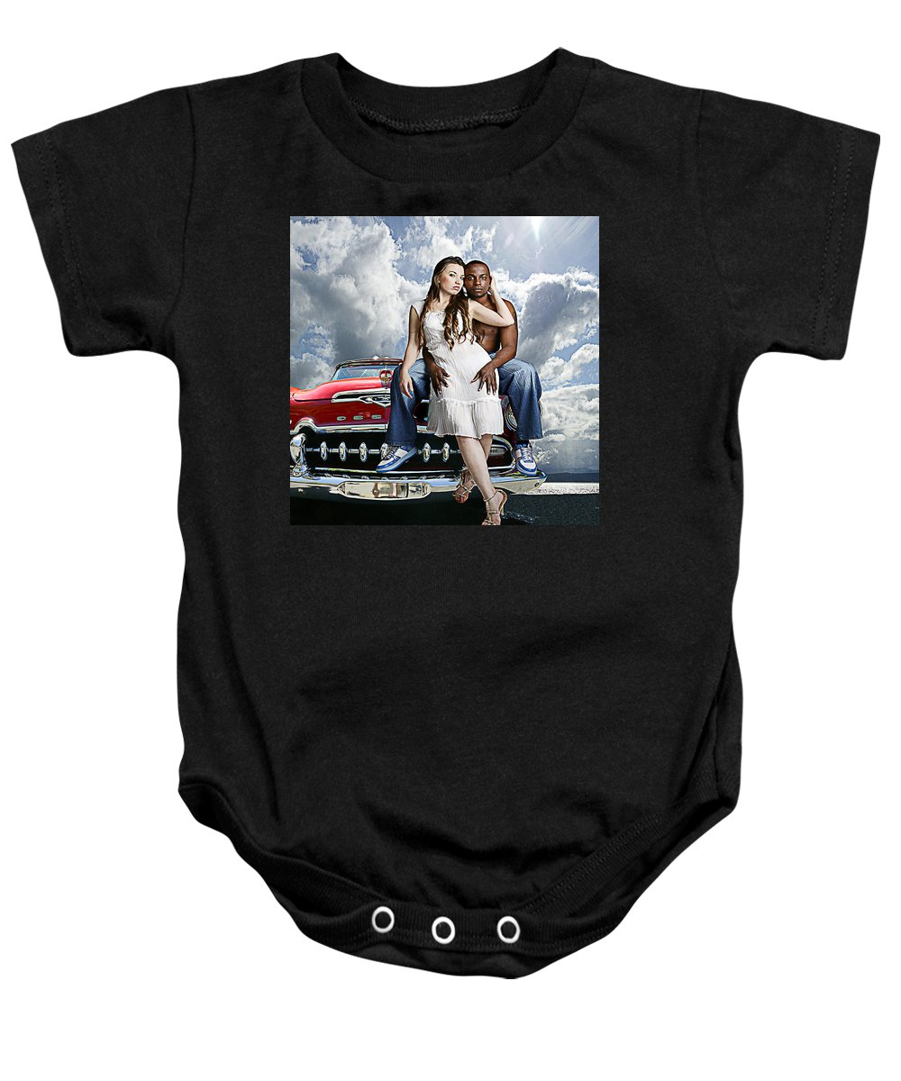 Auto Baby Onesie featuring the photograph Downtown by Jeff Burgess