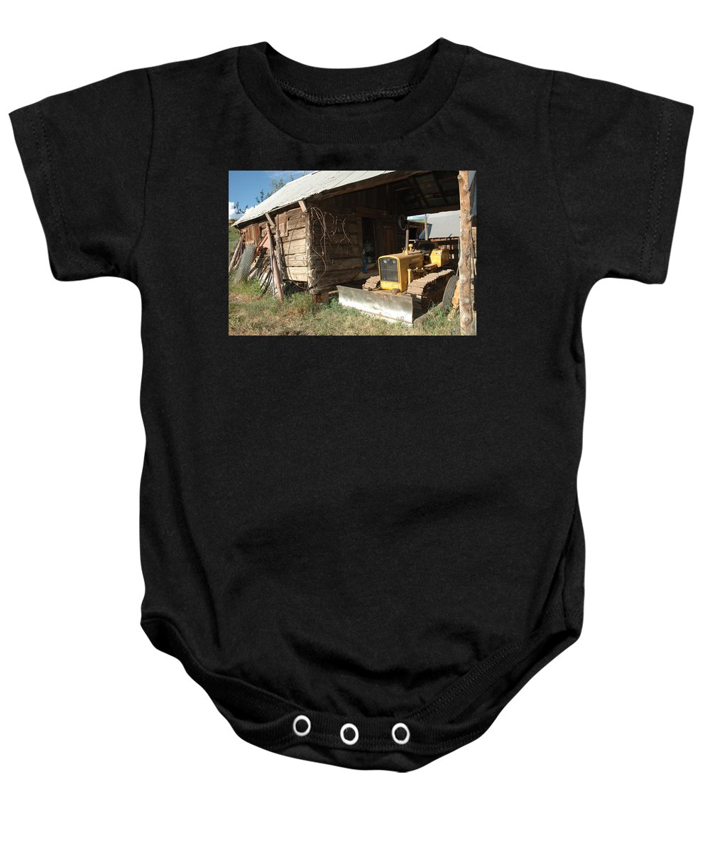 Bulldozer Baby Onesie featuring the photograph Dozin Off by Jerry McElroy