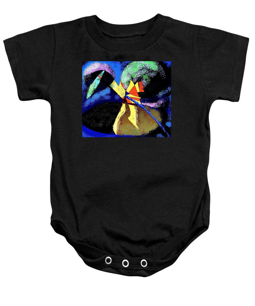 Digital Drawing Baby Onesie featuring the digital art Dragon Killer by Ian MacDonald