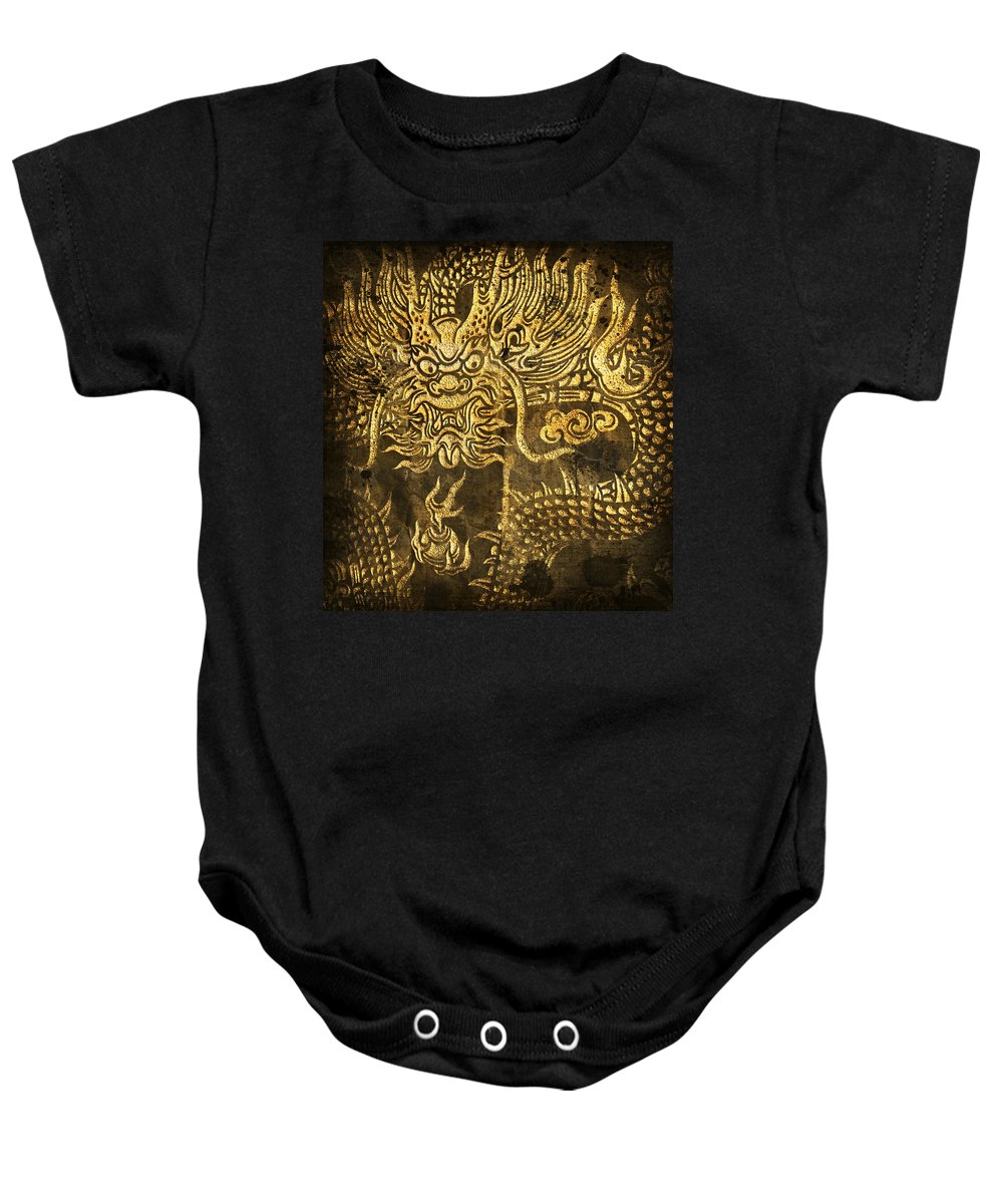 Abstract Baby Onesie featuring the digital art Dragon Pattern by Setsiri Silapasuwanchai