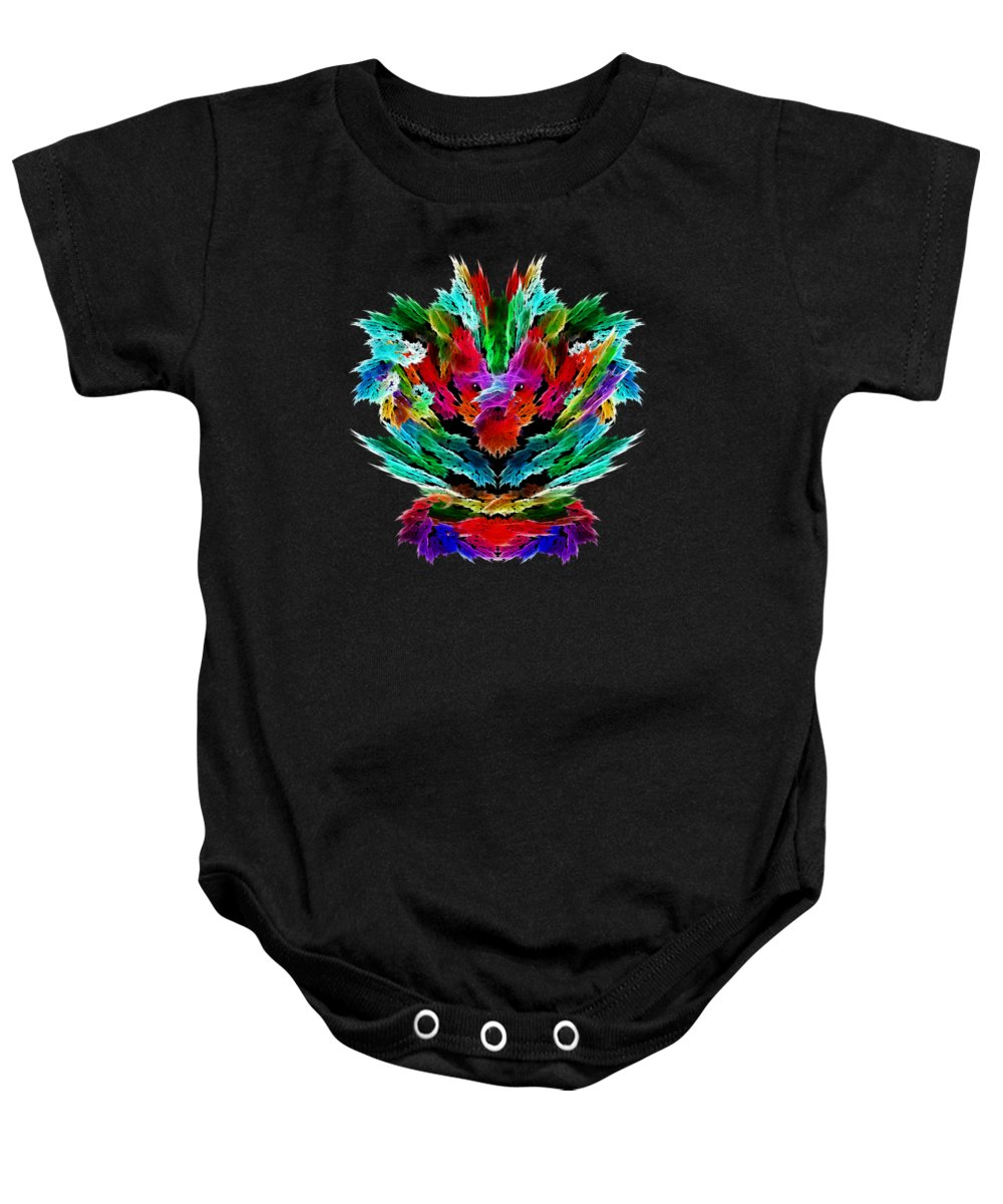 Dragon's Breath Baby Onesie featuring the painting Dragon's Breath by Methune Hively