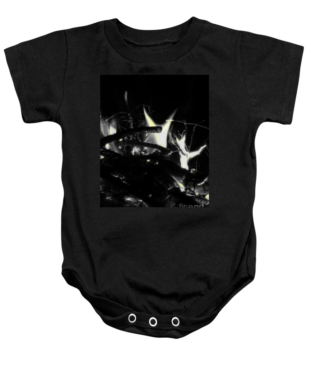 Black Baby Onesie featuring the photograph Drained by September Stone