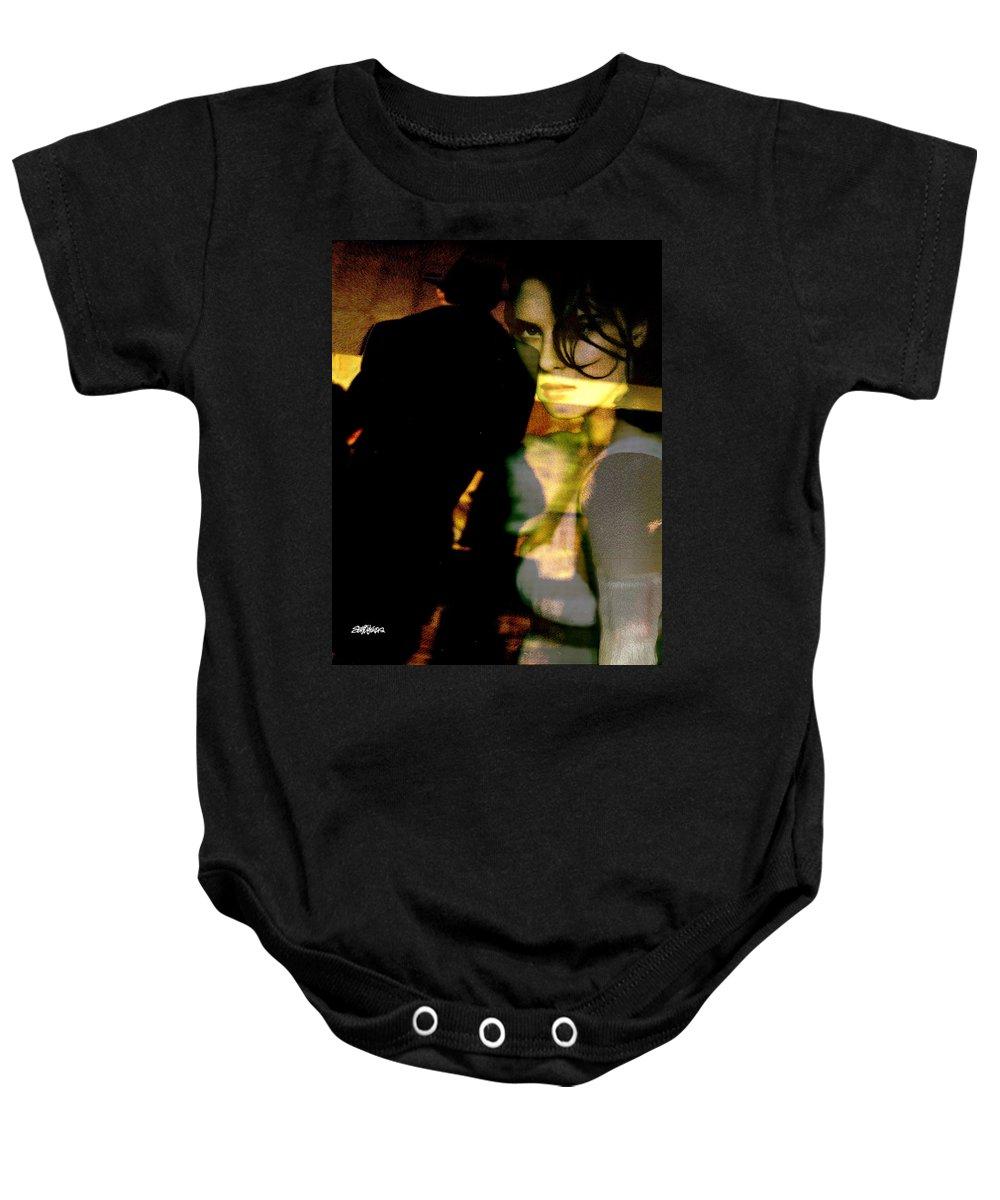 Mystery Baby Onesie featuring the digital art Drama After Dark by Seth Weaver
