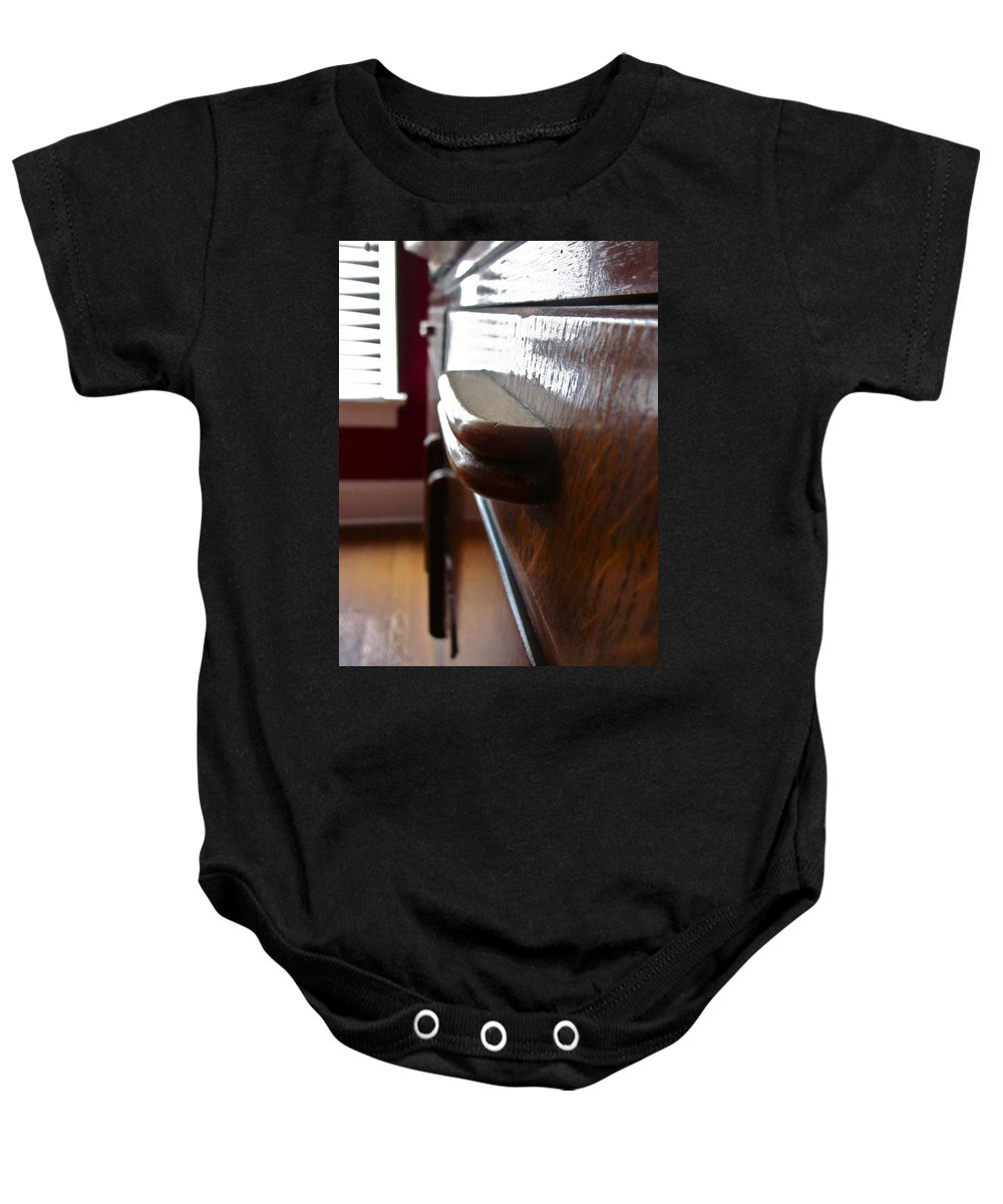 Photograph Of Drawer Baby Onesie featuring the photograph Dream Drawer by Gwyn Newcombe