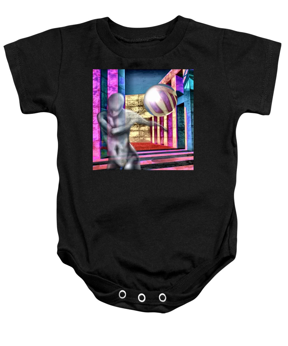 Playground Game Ball Colors Baby Onesie featuring the digital art Dream Play by Veronica Jackson