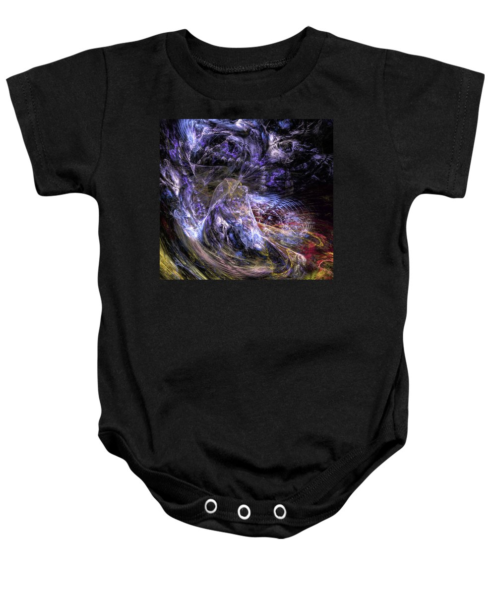 Digital Painting Baby Onesie featuring the digital art Dream Scene by David Lane