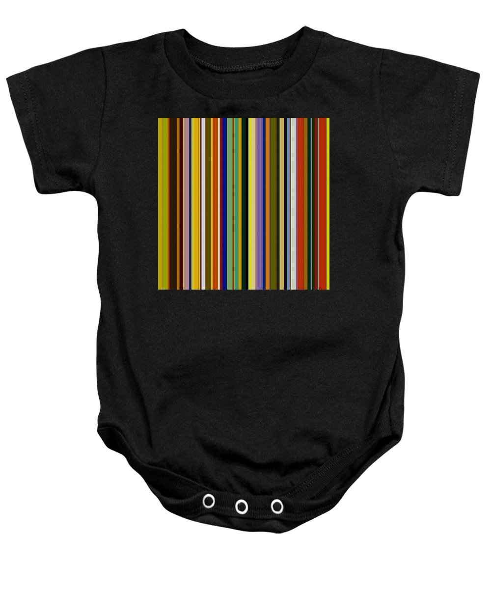 Textured Baby Onesie featuring the digital art Dreamcoat Designs by Michelle Calkins